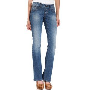 Guess Womens DAREDEVIL Bootcut Blue Jeans